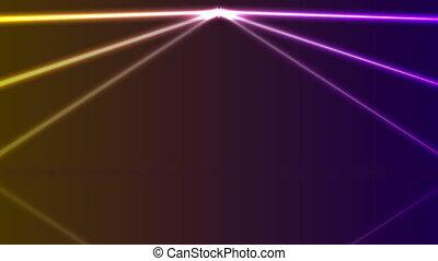 Orange ultraviolet neon laser lines video animation - Orange...