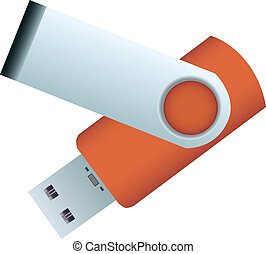 flash disc - orange usb flash disc