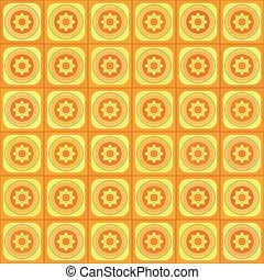 Orange vector geometric seamless pattern