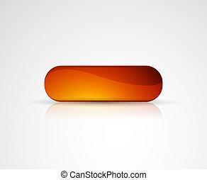 Orange vector glossy button