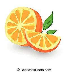 orange vector icon cartoon style isolated on white background.
