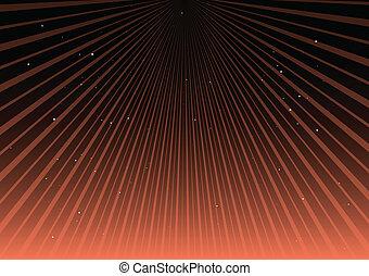 Orange vector rays