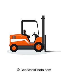Orange Vehicle Forklift