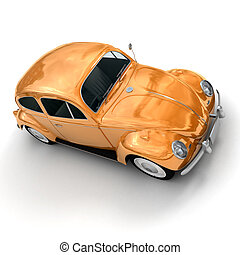 orange, vendange, européen, shinny, voiture