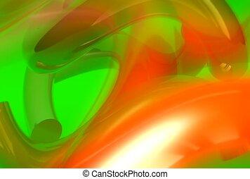 orange, vert, confusion