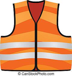 Orange vest isolated on the white background EPS10