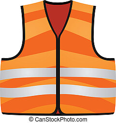 Orange Vest Isolated On The White Background EPS10