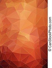 orange, vibrant, polygonal, fond