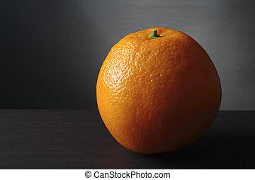 orange, vie, encore, fruit