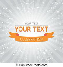 Orange vintage celebration card