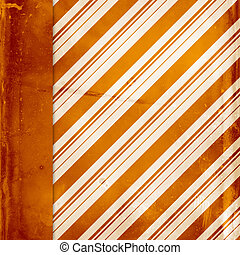 Orange vintage striped background with left side border