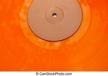 orange vinyl record