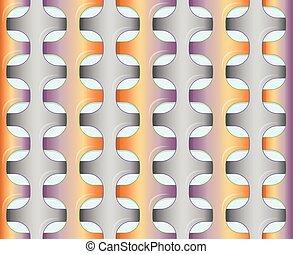 Orange - violet pattern.
