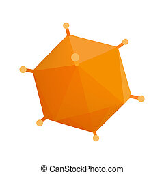 Orange virus isometric 3d icon