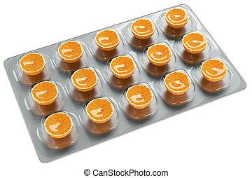 orange, -, vitamin c