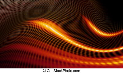 Orange VJ looping abstract CG background
