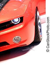 orange, voiture, sports