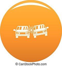 orange, voiture, vecteur, boom, icône