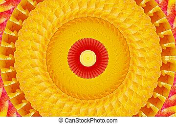Orange vortex