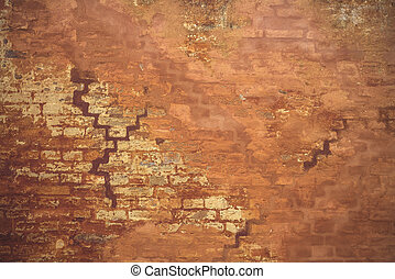 Orange wall in grunge look