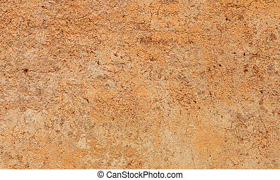 Orange wall of cement