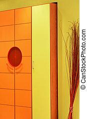 Orange wardrobe