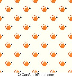 Orange water can pattern seamless vector