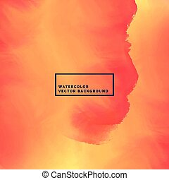 orange watercolor background with flowing ink stain