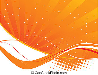 orange waves abstract design