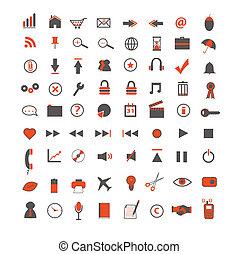 Orange Web and Business Icons