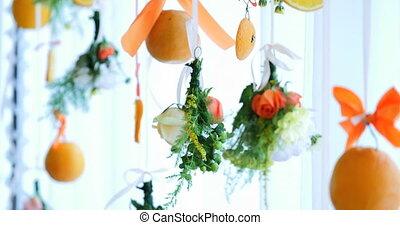 orange wedding decorations - orange hanging beautiful...