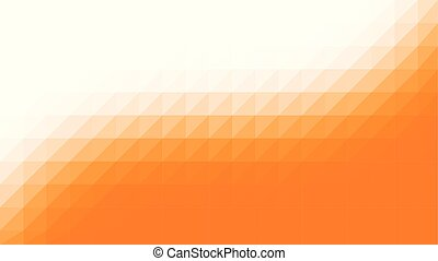 Orange White Low Poly Vector Background