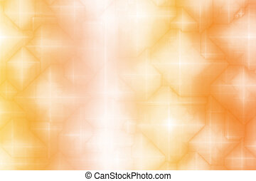 Orange White Magical Fantasy Abstract Background