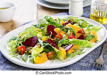 Orange with Beetroot salad