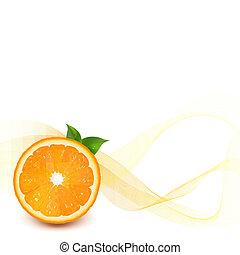 Orange With Blur