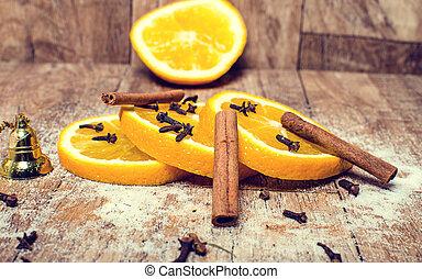 Orange with cinnamon.