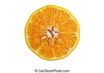 Orange with clipping path on white background