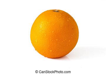 Orange with drops