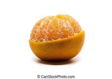 Orange with half peel