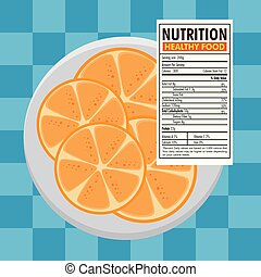 orange with nutrition facts
