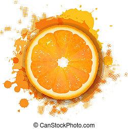Orange With Orange Blob