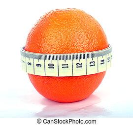 Orange with tape measure