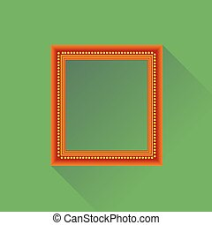 Orange Wooden Frame
