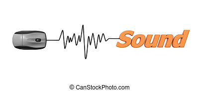 Orange Word Sound with Black Mouse