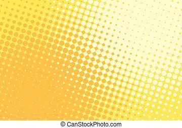 Orange yellow halftone pop art retro background