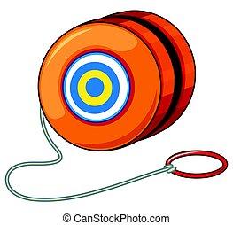 Orange yoyo with red ring illustration