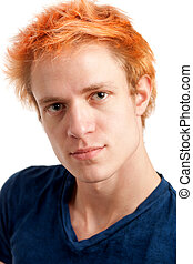 orangefarbene haare, führen schuß