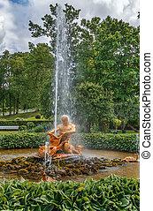 orangery, 噴水, triton, peterhof, ロシア