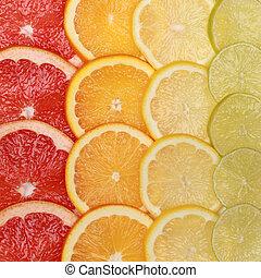 Oranges and lemons background