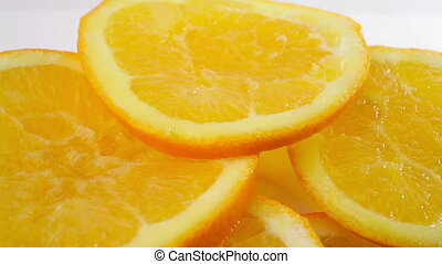 Oranges close up